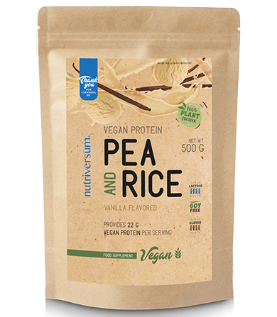 Vegan Protein Pea And Rice Vanilla- 500 g