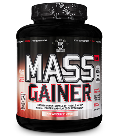 5 Stars Mass Gainer Strawberry- 5000 g